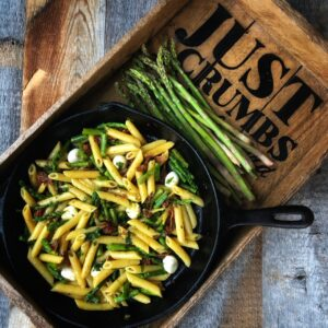 Springtime Pasta:  Penne with Bacon, Asparagus and Bocconcini