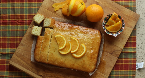 Nostalgic Orange Soaked Yogurt Cake