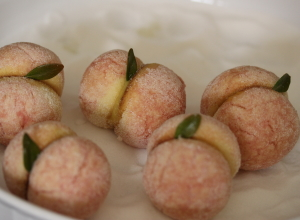 Pesche con Crema:  Custard Filled Italian Peach Cookies
