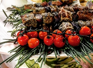 Rosemary Skewered Lamb Kebabs