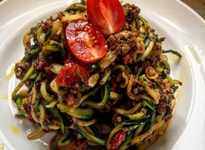 Vegan Bolognese with Zucchini Noodles