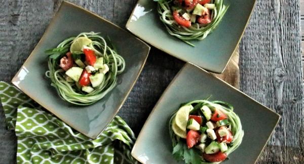 Party Essentials:  Greek Salad Nests