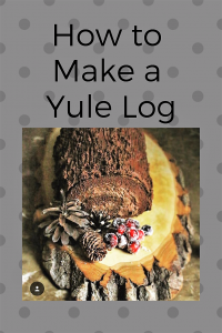 How to make a yule log cake