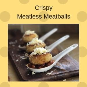 crispy meatless meatballs
