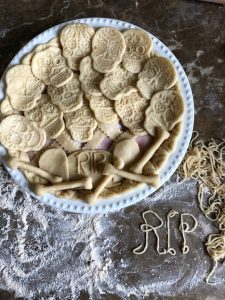 Day of the Dead Savoury Cheese and Turkey Pie