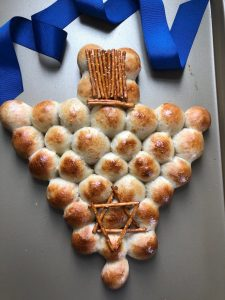 chrismukkah pizza bread