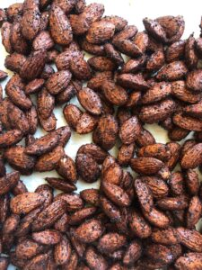 How to Use Spent Coffee Grounds: Mocha Roasted Almonds